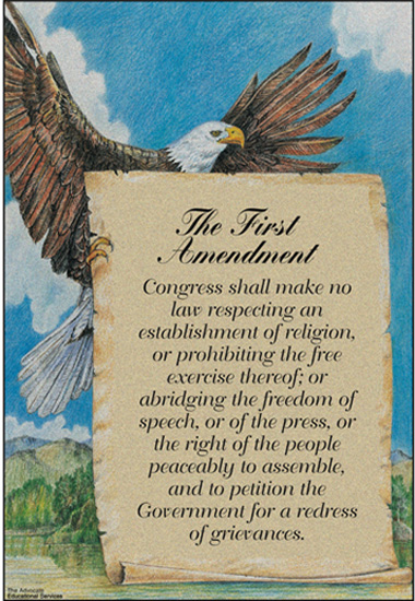 First-amendment-scroll-and-eagle
