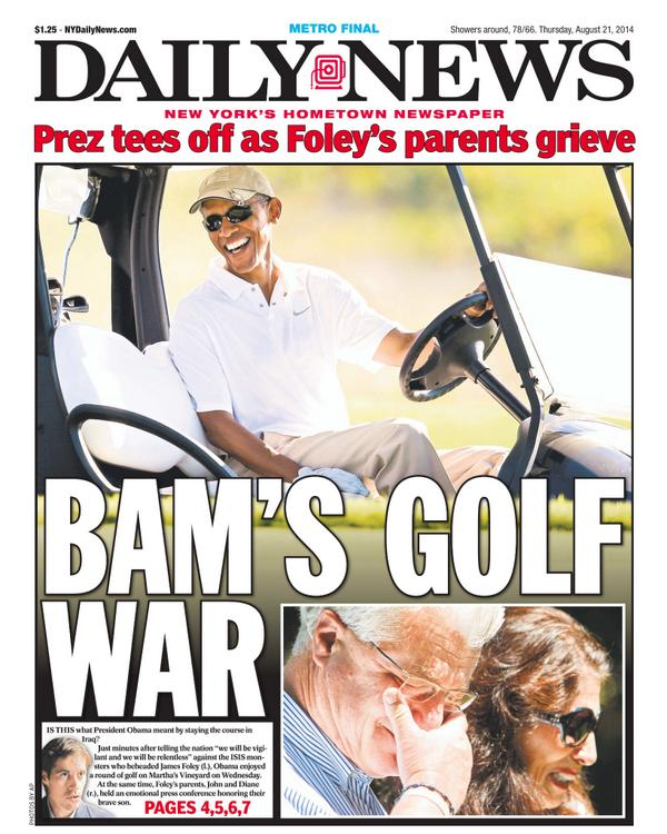 Daily News Teed Off