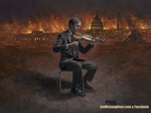 Obama With Violin