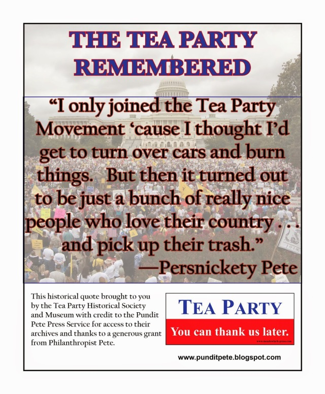 Tea Party Remembered