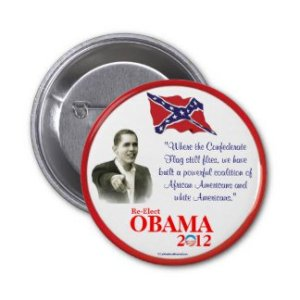 Obama Confederate Flag Pin