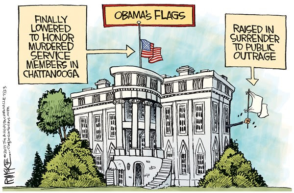 Obamas Flags
