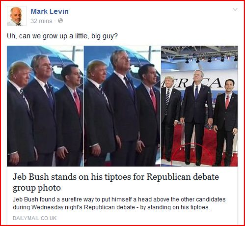 Jeb Tiptoes Levin